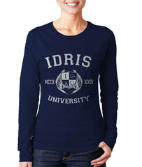 Herondale 27 Idris University Long sleeve T-shirt for Women Navy - Meh. Geek - 2