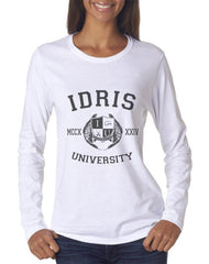 Carstairs 22 Idris University Long sleeve T-shirt for Women White - Meh. Geek - 3