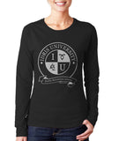 Idris University ROUND Long sleeve T-shirt for Women - Meh. Geek - 2