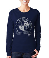 Idris University ROUND Long sleeve T-shirt for Women - Meh. Geek - 1