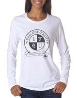 Idris University ROUND Long sleeve T-shirt for Women - Meh. Geek - 4