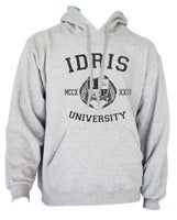 Idris UniversIty Custom Back Name and Number Unisex Pullover Hoodie Light Steel / HEATHER GREY - Meh. Geek - 2