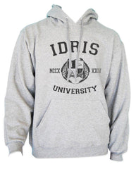 Lightwood 13 Idris University Unisex Pullover Hoodie Light Steel - Meh. Geek - 4