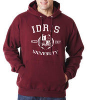 Lightwood 13 Idris University Unisex Pullover Hoodie Maroon - Meh. Geek - 4