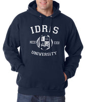 Idris University Custom Back Name and Number Unisex Pullover Hoodie NAVY - Meh. Geek - 4