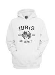 Idris University Custom Back Name and Number Unisex Pullover Hoodie WHITE - Meh. Geek - 4