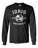 Fairchild 14 Idris University Long Sleeve T-shirt for Men Black - Meh. Geek - 2