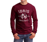 Fairchild 13 Idris University Long Sleeve T-shirt for Men Maroon - Meh. Geek - 2