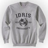 Fairchild 13 Idris University Unisex Crewneck Sweatshirt Heather Grey - Meh. Geek - 2