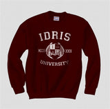 Idris University Custom Back Name and Number Crewneck Sweatshirt MAROON - Meh. Geek - 6