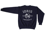 Idris University Shadowhunters Custom Back Name and Number Crewneck Sweatshirt NAVY Adult