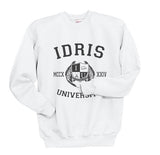 Lightwood 91 Idris University Unisex Crewneck Sweatshirt White - Meh. Geek - 2
