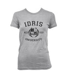 Idris University Custom Back Name and Number Women T-shirt Sport Grey - Meh. Geek - 4