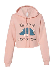 I'll Do It Tomorrow Snorlax Cropped Hoodie / Crop Hoodie
