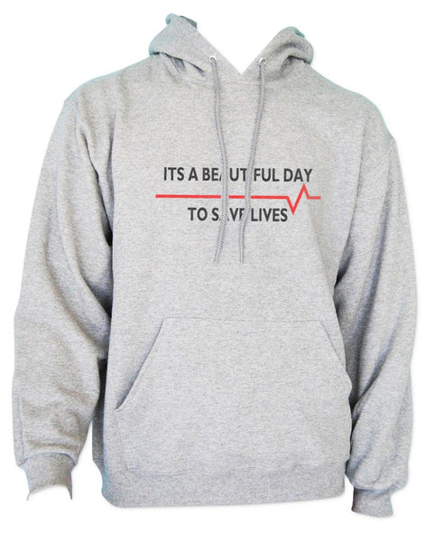 It`s A Beautiful Day To Save Lives Unisex Pullover Hoodie