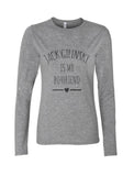 Jack Gilinsky Is My Boyfriend LOVE Long sleeve T-shirt for Women - Meh. Geek - 3