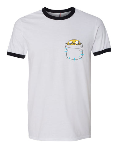 Jack on Pocket Ringer Unisex T-shirt / tee