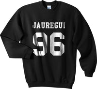 Jauregui 96 White Ink on Front Lauren Jauregui Crewneck Sweatshirt - Meh. Geek