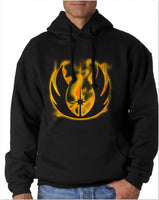 Jedi On Fire Knight Star Wars Unisex Pullover Hoodie - Meh. Geek
