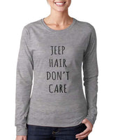 Jeep Hair Don`t Care Long sleeve T-shirt for Women - Meh. Geek - 3