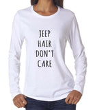 Jeep Hair Don`t Care Long sleeve T-shirt for Women - Meh. Geek - 1