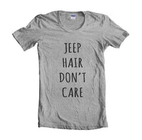 Jeep Hair Don`t Care Women T-shirt - Meh. Geek