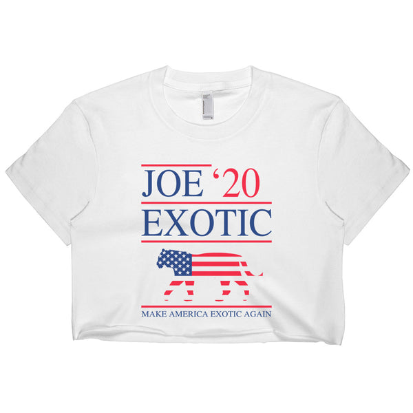 Joe Exotic For President 2020 Women Crop Top, Crop Tee / T-shirt
