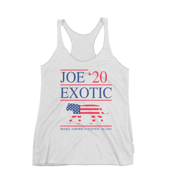 Joe Exotic 2020 Tiger King Triblend Racerback Women Tank Top