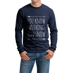 You Know Nothing Jon Snow Long Sleeve T-shirt for Men - Meh. Geek