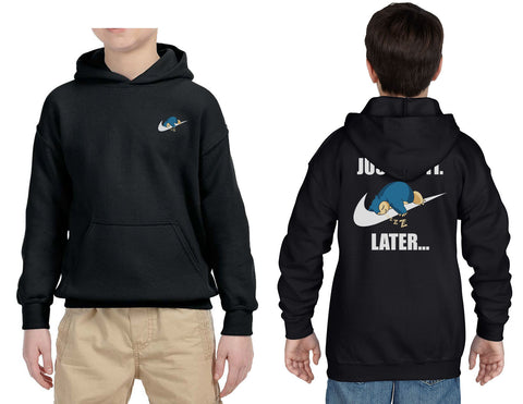 Just Do It Later Snorlax Front Back Kid / Youth Hoodie