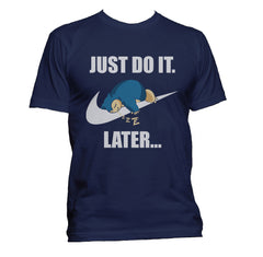Just Do It Later Snorlax T-shirt Men