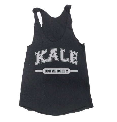 Kale University Triblend Racerback Women Tank Top