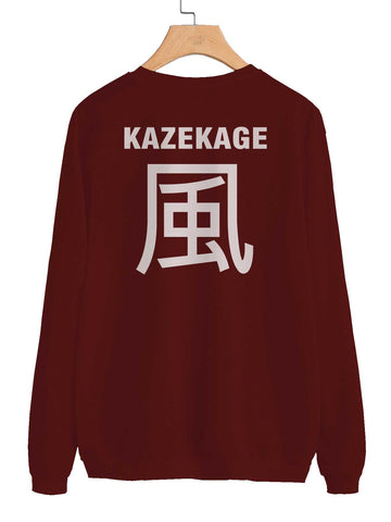 Kazekage Symbol on Back Naruto Unisex Crewneck Sweatshirt Adult