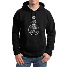 Keep Calm and Stay Inside The Salt Circle Supernatural Symbol Unisex Pullover Hoodie - Meh. Geek