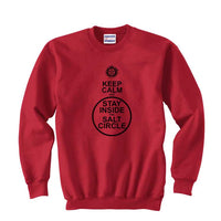 Keep Calm and Stay Inside the Salt Circle Supernatural Winchester Unisex Crewneck Sweatshirt - Meh. Geek - 2