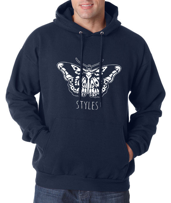 2c741c0e628 Butterfly Tattoo Harry Styles Unisex Pullover Hoodie – Meh. Geek