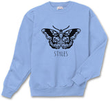 Butterfly Tattoo Harry Styles Unisex Crewneck Sweatshirt - Meh. Geek - 3