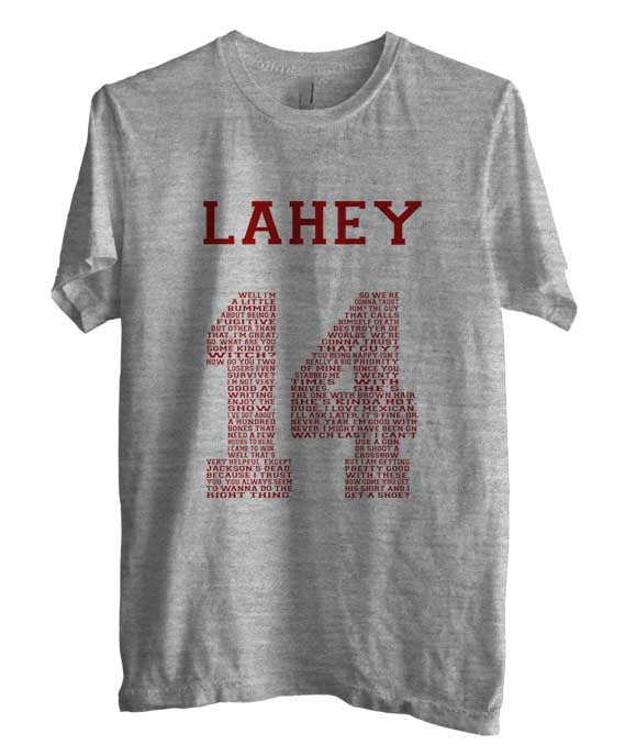 Lahey 14 Quote Maroon Ink Beacon Hills Lacrosse Wolf Unisex Men T-shirt - Meh. Geek - 2