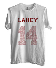 Lahey 14 Quote Maroon Ink Beacon Hills Lacrosse Wolf Unisex Men T-shirt - Meh. Geek - 1