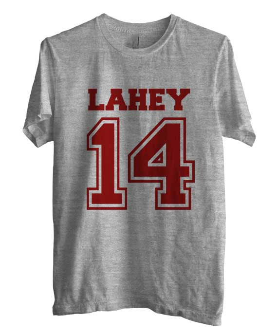 Lahey 14 on front Beacon Hills Lacrosse Wolf Unisex Men T-shirt - Meh. Geek - 2