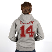 Lahey 14 Maroon Ink on Back Beacon hills lacrosse Unisex Pullover Hoodie - Meh. Geek