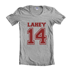Lahey 14 printed on front only Beacon Hills Lacrosse Wolf Women T-shirt - Meh. Geek
