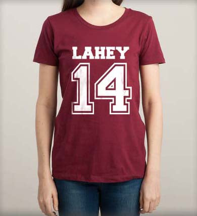 Lahey 14 printed on front only Beacon Hills Lacrosse Wolf Women T-shirt