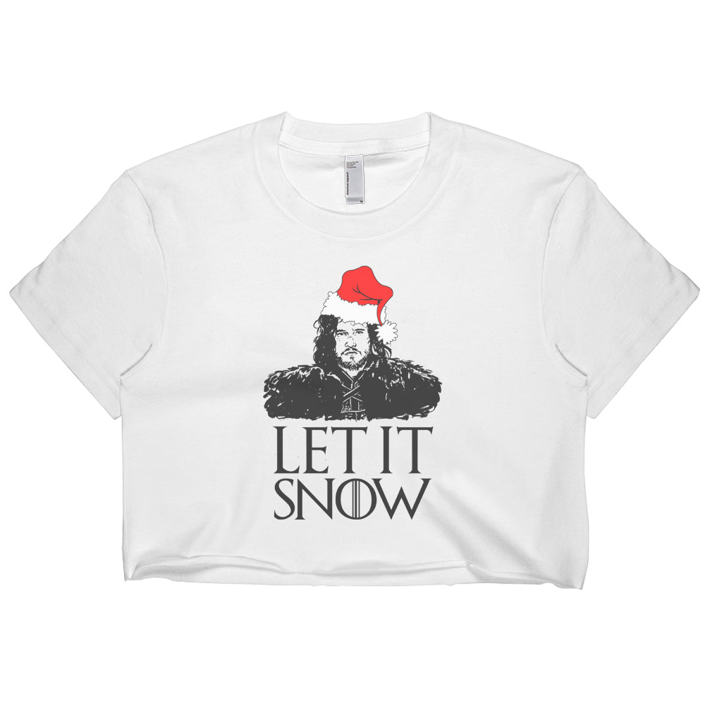 Let it snow Jon Snow Crop Top Tee