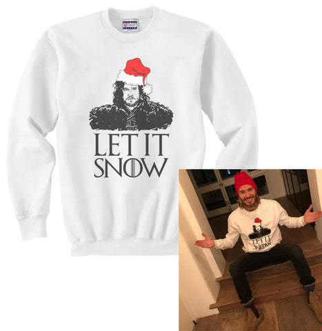 Let it Snow Jon Snow Unisex Crewneck Sweatshirt Sweater Jumper