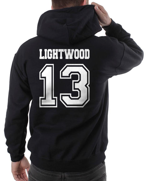Lightwood 13 On BACK Idris University Unisex Pullover Hoodie - Meh. Geek - 2