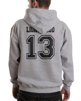Lightwood 13 On BACK Idris University Unisex Pullover Hoodie - Meh. Geek - 3