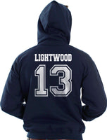 Lightwood 13 On BACK Idris University Unisex Pullover Hoodie - Meh. Geek - 1