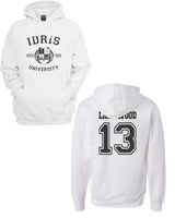 Lightwood 13 Idris University Unisex Pullover Hoodie White - Meh. Geek - 1