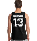 Lightwood 13 Idris University Men Tank Top Black
